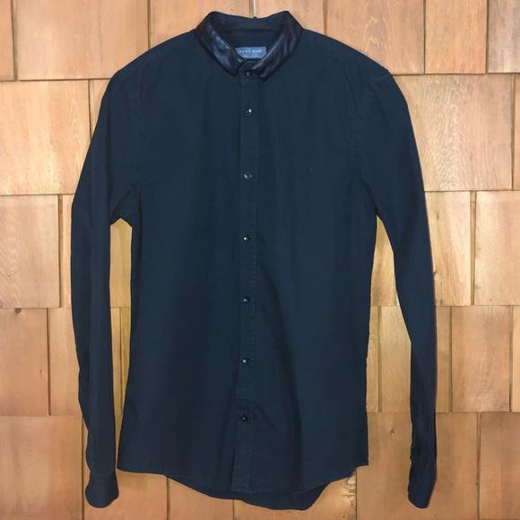 Zara Man Other - Zara Man Slim Fit Black Button Up Shirt
